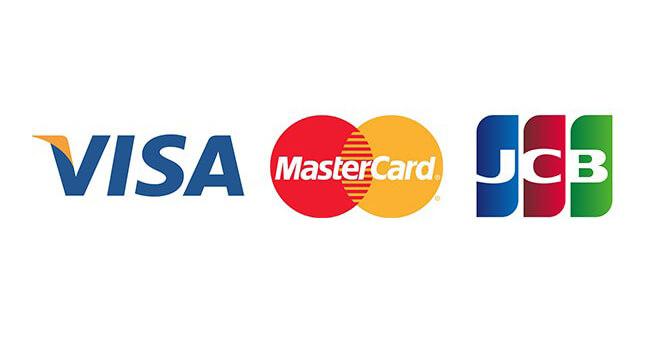 VISA・JCB・MasterCard
